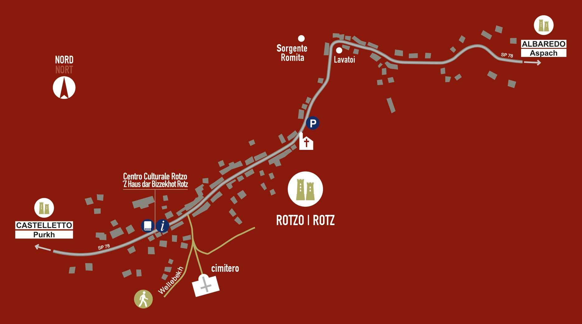 cartina Rotzo